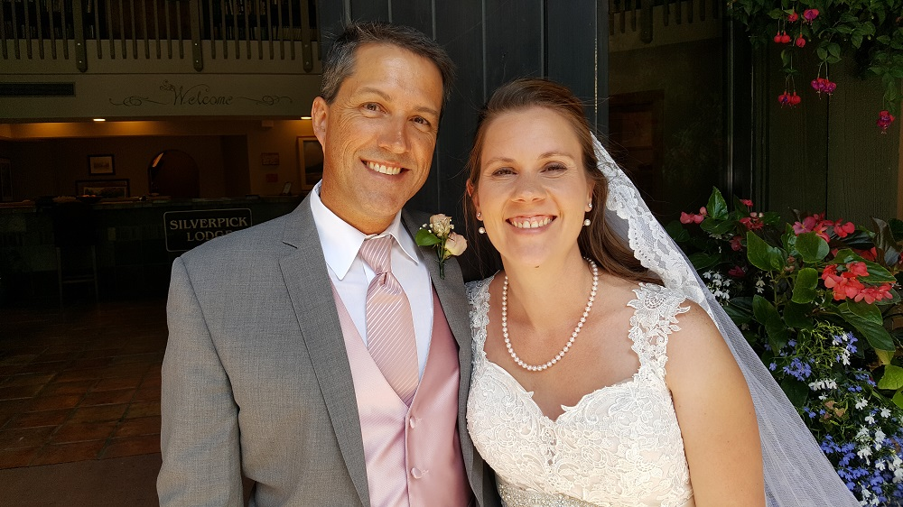 Recently married Candy and Kevin