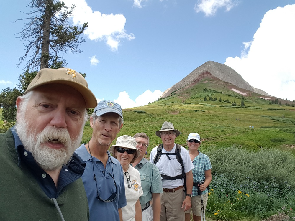 Owner Chris and friends hiking