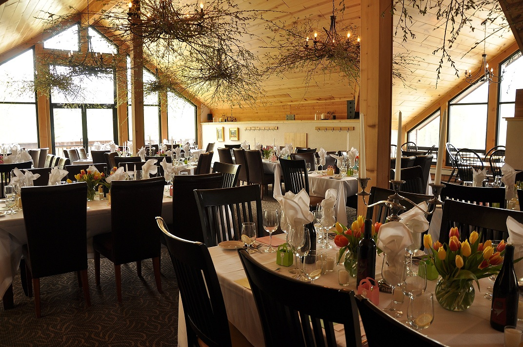 Reception option at Silverpick Lodge in the Sow's Ear Restaurant